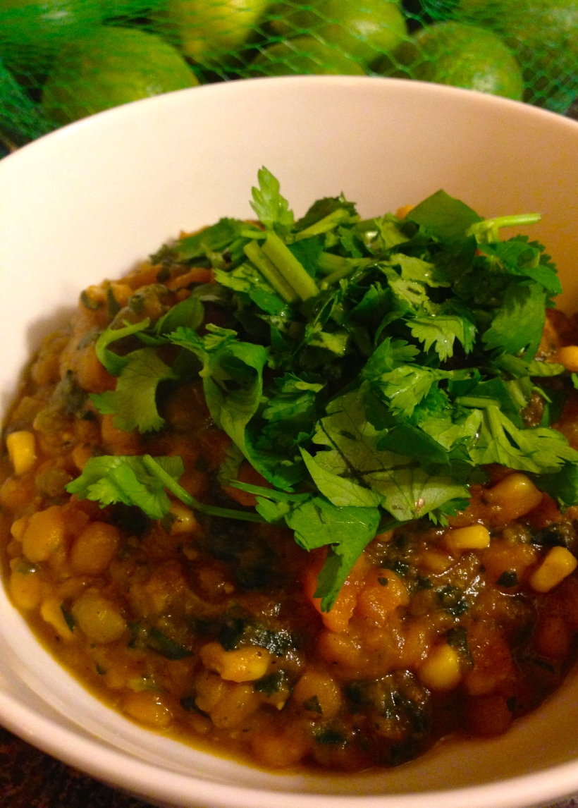 Curried lentils and sweet potato stew
